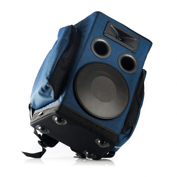 bottom of backpack sound system