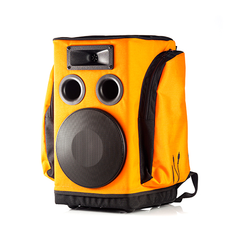 partybag backpack pa system in orange